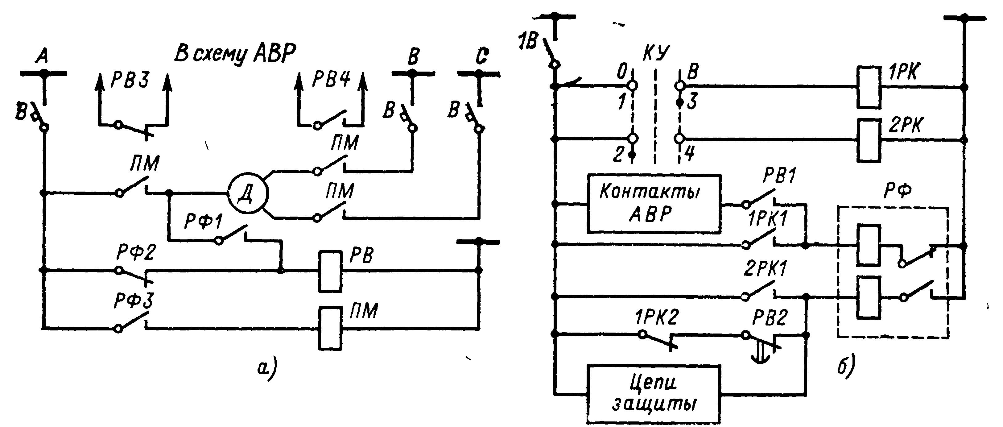 Схема управления магнитным пускателем асинхронных двигателей