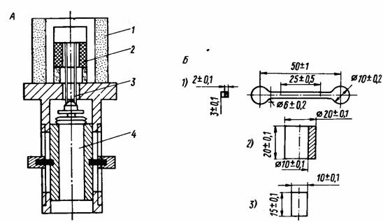 Схема дилатометра и размеры