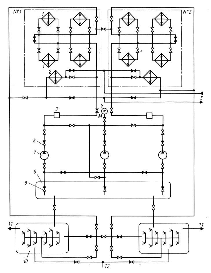 Схема водоснабжения двух