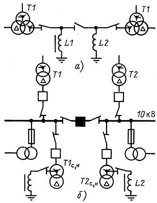 Схема подключения дугогасящих