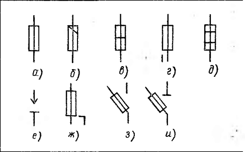 Ограничитель мощности условное обозначение на схеме 198