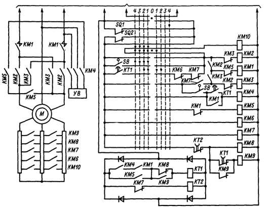 Схема электропривода механизма