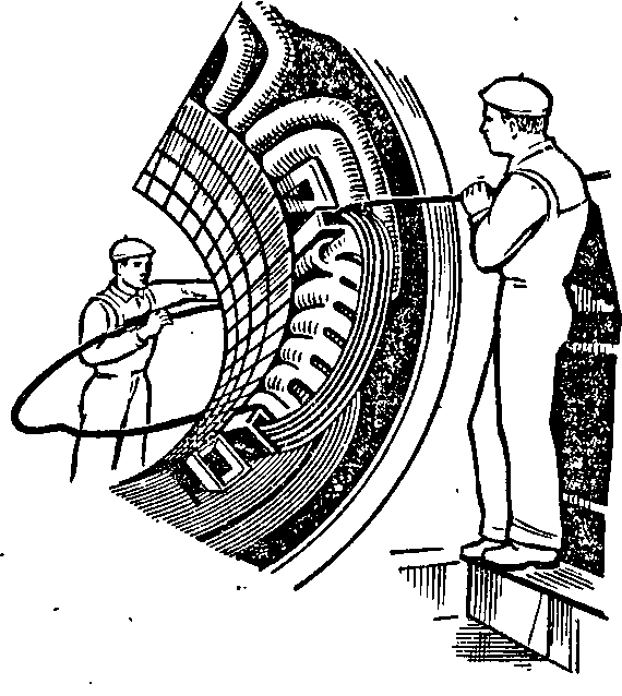 Намотка катушек статора электрической машины