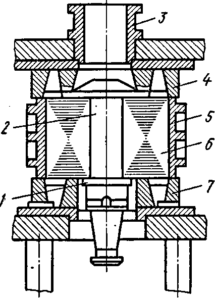 Кокиль для заливки короткозамкнутого ротора алюминием