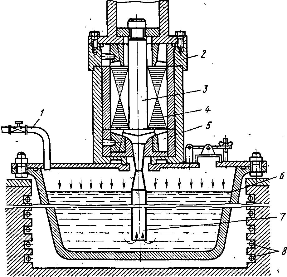 Схема заливки роторов алюминием