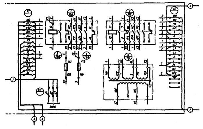 Схема соединений, выполненная