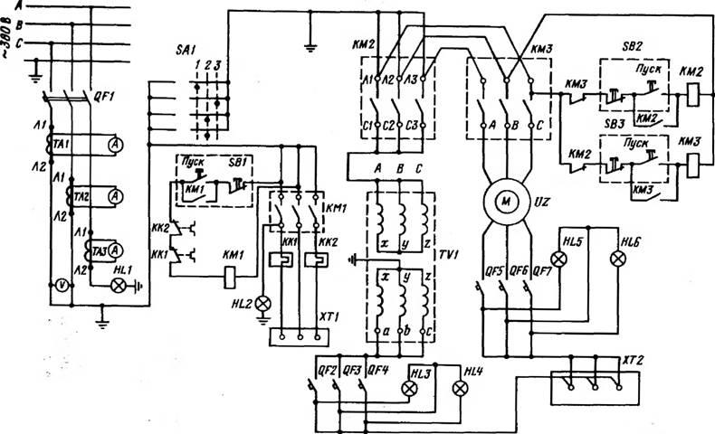 Схемы испытаний электрооборудования по