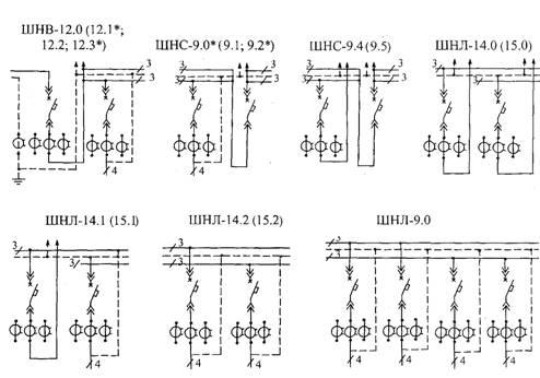 Схемы соединений шкафов РУНН