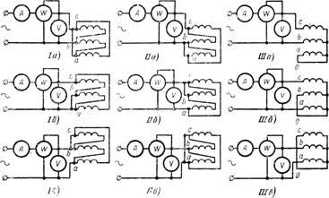 Однофазное измерение потерь холостого хода трехфазного трансформатора с соединениями возбуждающей обмотки